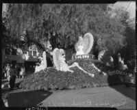 Laguna Beach parade float for Tournament of Roses Parade, Pasadena, 1937