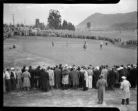 Golfers compete at the 12th annual Los Angeles Open golf tournament, Los Angeles, 1937