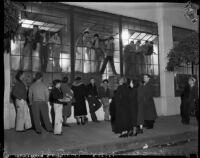 Group protesting at the Douglas Aircraft Corporation plant, Santa Monica, 1937