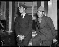 "Julius ""Groucho Marx and his brother Leonard ""Chico"" Marx, Los Angeles, 1937"