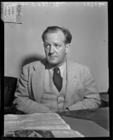 George K. Thornton, deputy at the State Board of Equalization, in court, Los Angeles, 1937