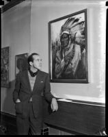 John Coleman Burroughs exhibits oil paintings at Stendahl Gallery, Los Angeles, 1937