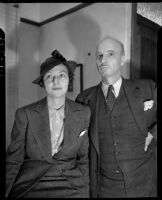 American artist Rockwell Kent and his wife Frances Lee Kent, Los Angeles, 1937