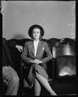Heiress Nancy Pierson Brooks Macy Brill, Los Angeles, 1937