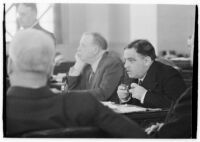 Mayor of New York City, Fiorello La Guardia, presides over the Pacific coast's United States Conference of Mayors.  May 15, 1937.