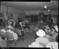 "Funeral service for longshoreman Norman ""Big Bill"" Gregg, San Pedro, 1937"