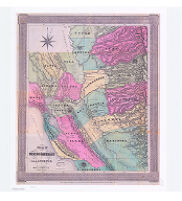 Map of the mining district of California