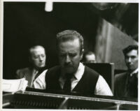 Claudio Arrau playing the piano, 1948 [descriptive]