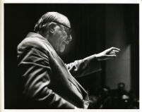 Sir Thomas Beecham in rehearsal, 1955 [descriptive]