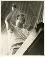 William Steinberg conducting in rehersal, 1957 [descriptive]
