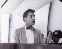 John Browning at the piano, 1958 [descriptive]