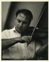 Isaac Stern playing the violin, 1958 [descriptive]