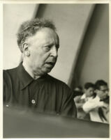 Arthur Rubinstein at the piano, Los Angeles, 1958 [descriptive]