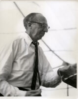 Aaron Copland at the podium, Los Angeles, 1960 [descriptive]