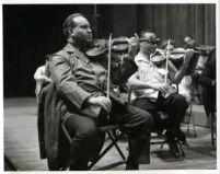 David Oistrakh playing the violin, 1964 [descriptive]