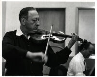 Jascha Heifetz playing the violin with Brooks Smith at the piano, 1966 [descriptive]