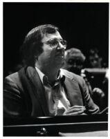 Horacio Gutierrez playing the piano, 1985 [descriptive]