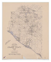 Administration Map Orange County West Half 1943