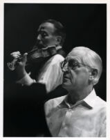 Henryk Szeryng playing the violin with Reiner at the piano, 1986 [descriptive]