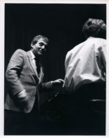 Aldo Ciccolini at the piano, Los Angeles, 1986 [descriptive]