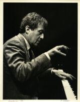 Aldo Ciccolini playing the piano, Los Angeles, 1986 [descriptive]