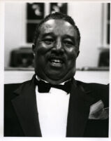 Ray Brown (bassist) in concert attire, 1986 [descriptive]