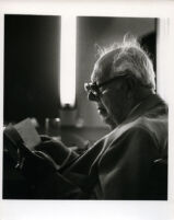 Andrés Segovia looking at a score, 1986 [descriptive]