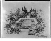 Garden sketch for Mrs. J. R. DeWitt