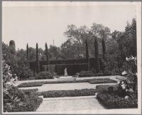 Mrs. J.R. DeWitt residence, garden