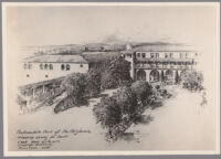 Planting study, Automobile Club of Southern California, Los Angeles, [circa 1920s]