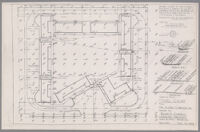 Grading plan for motel court, Los Angeles, 1946