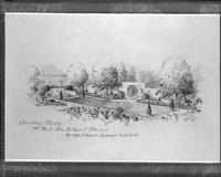 Garden study for Mr. and Mrs. Arthur C. Stewart, Los Angeles
