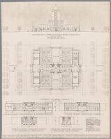 Study of administration building for the Twin Falls Bruneau Project, Harriman, Idaho, between 1924 and 1933