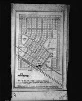 Site plan for Auroratowne, 1948