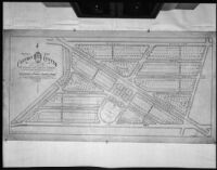 General Plan for Carthay Center subdivided by J. Harvey McCarthy Company, Los Angeles, 1922