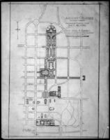 Preliminary campus study for Claremont Colleges, Claremont, 1928