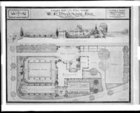Garden plan for the W. R. Dunsmore residence, Los Angeles, 1924