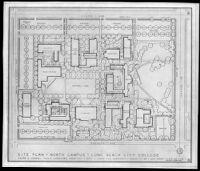 Site plan, north campus, Long Beach City College, Long Beach, 1950