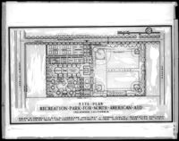 Site plan, recreation park for North American aid, Inglewood, 1946