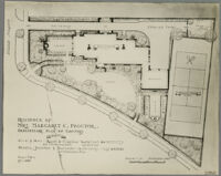 Preliminary plan, Mrs. Margaret C. Proctor residence, Los Angeles, 1924