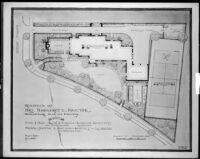 Preliminary plan, Mrs. Margaret C. Proctor residence, Los Angeles, 1924