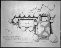 Landscape plan for Sumner Spaulding residence