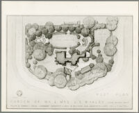 Plot plan for a garden for the Mr. & Mrs. Lloyd S. Whaley residence, Long Beach, 1949