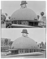 Brown Derby Restaurant, 2 views, Los Angeles, 1932