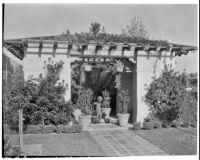 W. R. Dunsmore residence, view towards pergola, Los Angeles, 1930
