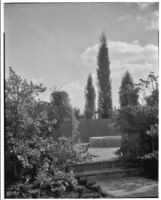 W. R. Dunsmore residence, view towards terrace, Los Angeles, circa 1930