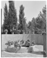 W. R. Dunsmore residence, view of terrace , Los Angeles, 1930