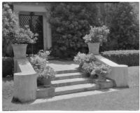 W. R. Dunsmore residence, view steps and main entry to house, Los Angeles, 1934