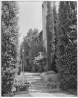 W. R. Dunsmore residence, view from SW towards steps and W facade of house, Los Angeles, 1934