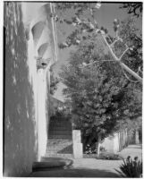 James R. Martin residence, stairs and lion head wall fountain, Los Angeles, 1931